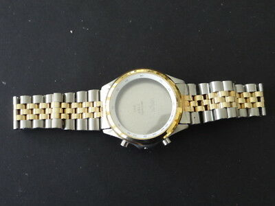 Used Longines Flagship Chronograph 2 Tone Case And Bracelet Only  For Part