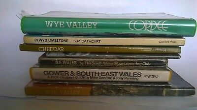 Rock climbing guide books from 1977 to 1985 for Wales, wye valley and cheddar
