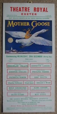 ### Original Theatre Royal Exeter Poster/lobby Card - Mother Goose 1956 ###