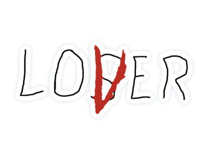 Stephen King's It Losers Club Loser Lover Stickers Horror Pennywise Halloween