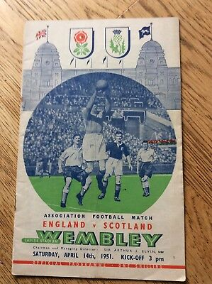 England v Scotland Saturday 14 April 1951 Football Programme