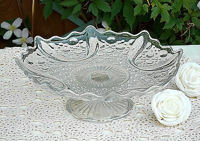Curved Edge Glass Cake Stand