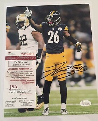 Le'Veon Bell Pittsburgh Steelers Signed 8x10 JSA Witnessed WP068820