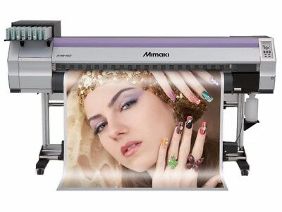 """Mimaki JV33-160 64"""" w/Take up reel - needs new head or flush - w/18L ink + chips"""