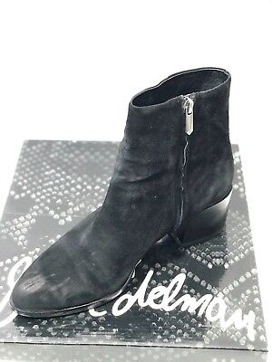 2fdc781906a3 SAM EDELMAN Joey Womens Black Suede Ankle Boots Size US 8 M