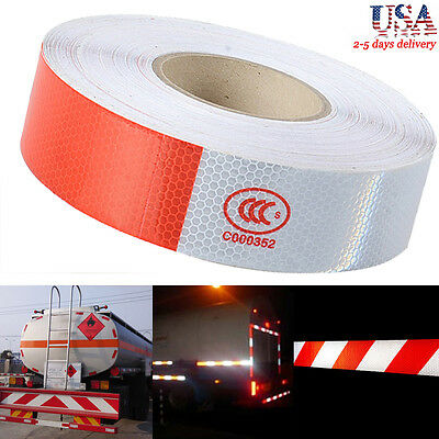 Reflective Safety Warning Conspicuity Tape Sticker Roll Film Trailer Camper US