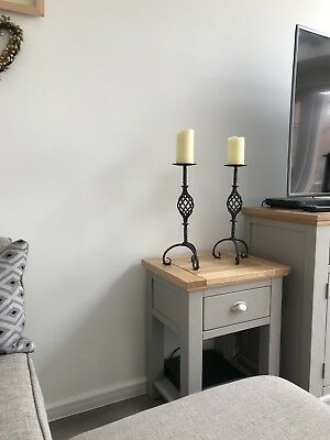 Pair of Iron Candlesticks - Very Heavy - Fantastic Quality