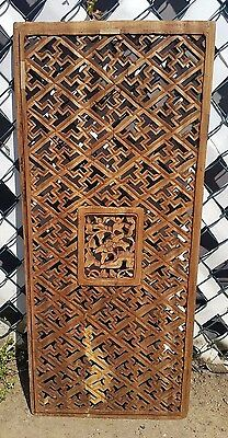 Antique Architectural Salvaged Victorian Wood Carved Panel Shoe Theme 38 x16-1/2