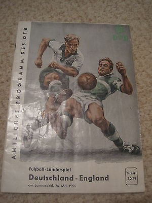 West Germany v England Rare Programme for Friendly on 26/05/1956