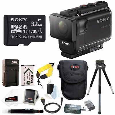 Sony HDR-AS50/B Full HD 1080p Action Cam with 32GB MicroSD Card & Battery Pack B