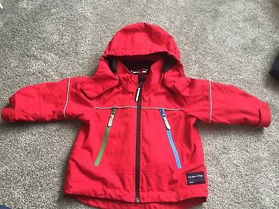Polarn O Pyret Kids Unisex Waterproof Jacket Age 1-1.5 Immaculate Condition Red