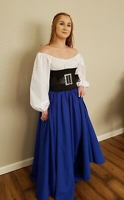 RENAISSANCE MEDIEVAL Small Long Sleeve Chemise Peasant Pirate Wench Costume Top