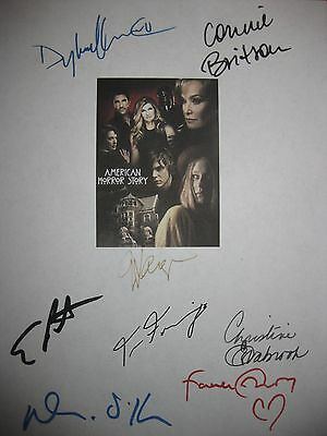 American Horror Story Signed Script X8 Connie Britton Dylan McDermott Peters RPT