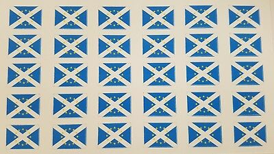 Small Scottish Saltire Stickers With EU Stars.