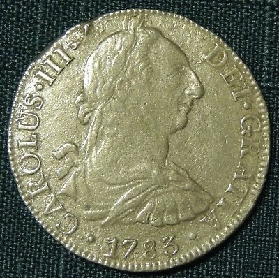 1783 8 Reales Mexico MO-FF Silver Spanish Coin F-XF