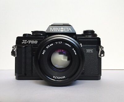 Minolta X-700 with 50mm f1.7 MD lens 35mm EXCELLENT WORKING