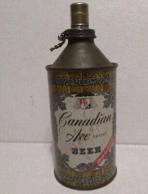 Vintage Canadian Ace Extra Pale Cone Top Beer Can Peli-can Lighter