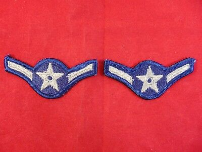 """U.S. Air Force Vintage Airman Merrowed Edge Rank Chevrons Patches - Small 3"""""""