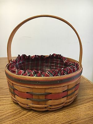 Longaberger 1992 Crisco American Cookie Celebration Basket w Liner and Protector