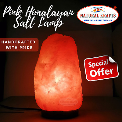 Himalayan Pink Rock Salt Lamp Mix Sizes With Free CE Cable & Bulb Air Purifier
