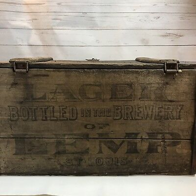 Antique Pre Prohibition Wood Beer Bottle Crate LEMP St. Louis 1913