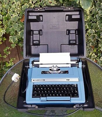 Vintage Smith Corona S 301 Portable Electric Typewriter - With Case - Tested