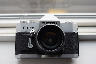 Petri FT EE 35mm Film SLR Camera With Petri EE Auto CC 55mm f1.8 Lens