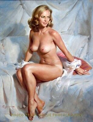 "Older Woman Nude Portrait 8.5x11"" Photo Print Lovely Female Gil Elvgren Pin-up"