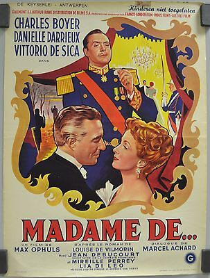 Madame De...max Ophuls Charles Boyer Danielle Darrieux Movie Poster