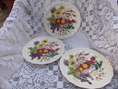 Copeland Spode England REYNOLDS - 3 Dinner Plates - Yellow/Gold Numbers Back