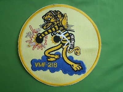 Military Shoulder Patch USMC VMF 218 Marine Fighter Attack Squadron