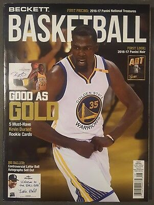 Beckett Basketball Card Price Guide AUGUST Issue KEVIN DURANT Cover