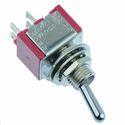 On-Off Miniature Toggle Switch 5A DPST