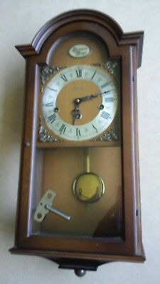 Vintage Tradition West German Chime Wall Clock W.Haid Chiming Tested Estate Find