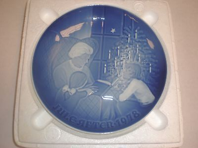 1978 Bing & Grondahl Fulepatte Christmas Plate Hand Painted Porcelain