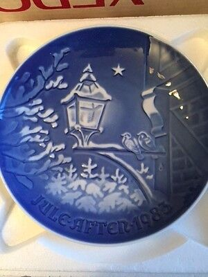 1983 Bing & Grondahl Fulepatte Christmas Plate Hand Painted Porcelain