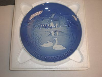 1974 Bing & Grondahl Fulepatte Christmas Plate Hand Painted Porcelain