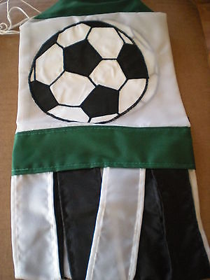 New Green And Black Soccer Ball Windsock