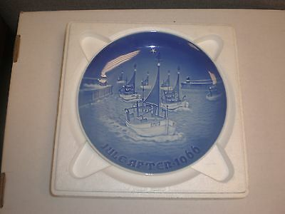 1966 Bing & Grondahl Fulepatte Christmas Plate Hand Painted Porcelain