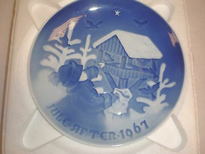 1967 Bing & Grondahl Fulepatte Christmas Plate Hand Painted Porcelain