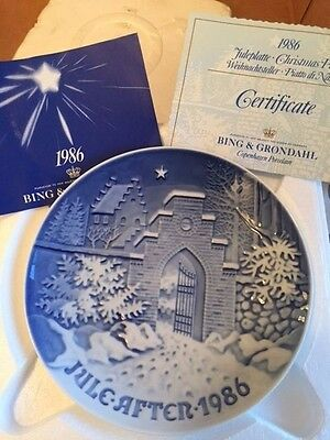 1986 Bing & Grondahl Fulepatte Christmas Plate Hand Painted Porcelain