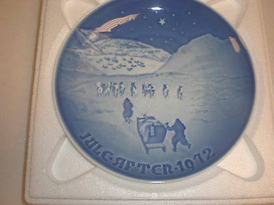 1972 Bing & Grondahl Fulepatte Christmas Plate Hand Painted Porcelain