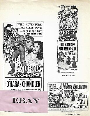 WAR ARROW JEFF CHANDLER MAUREEN O HARA  ad for posters of movie