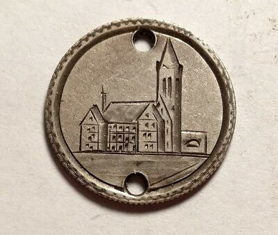 """1891 Seated Liberty Dime Pictorial Love Token """"Church"""""""