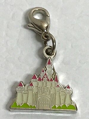 Authentic Disney Castle Silver Tone Charm Lobster Claw Clasp Used Rare