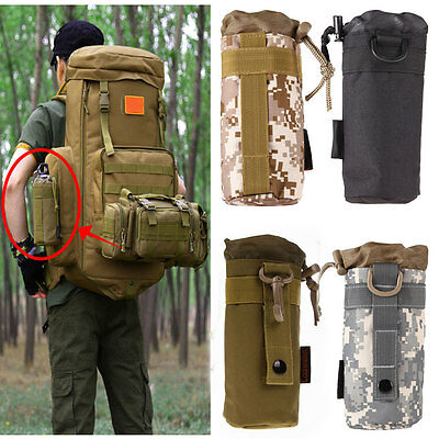Outdoor Tactical Army Military MOLLE Hydration Water Bottle Bag Kettle Pouch Bag