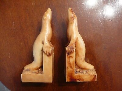 Made In Australia - Vintage Marble Bookends - Seals