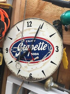 Rare Grapette Soda Clock