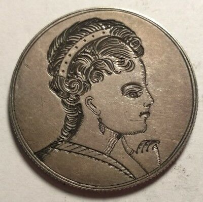 Seated Liberty Half Dollar Pictorial Love Token Portrait of a Woman Incredible!
