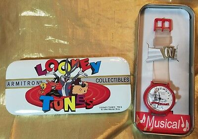 Musical Looney Tunes Wristwatch New In Box - 1994